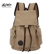 Luggage Bags - Backpacks - MANJIANGHONG Brand Fashion Men's School Backpack Men Large Capacity  Notebook Backpack Canvas Travel Bag Laptop