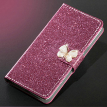 New Fashion Luxury Glitter Diamond Leather Case Redmi S2 Y2 Wallet Original Flip Phone Cover