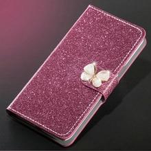 New Fashion Luxury Glitter Diamond Leather Case Redmi S2 Y2 Wallet Original Flip Phone Cover
