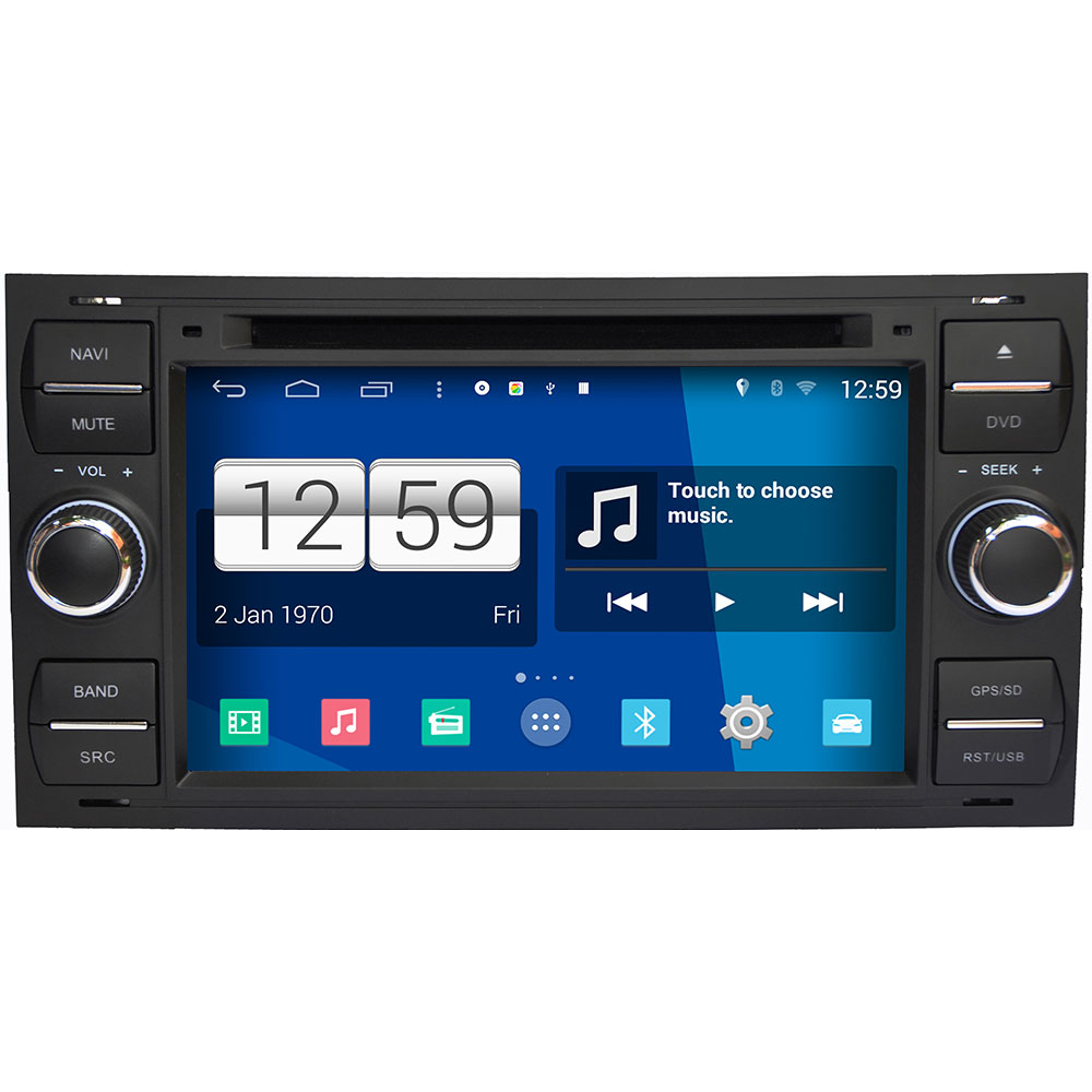 Android 4 4 4 for ford fiesta transit galaxy fusion mondeo s160 car accessories dvd gps
