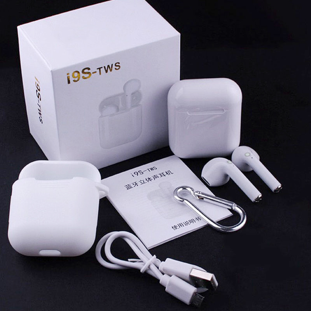 I9S TWS Wireless Earphones Bluetooth 5.0 Headphones Auriculares Earpieces Wireless Bluetooth Headsets For Xiaomi Smart Phone USB