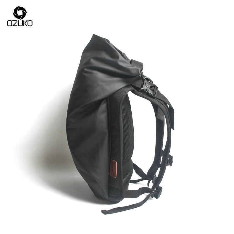 OZUKO Black Laptop Backpack Large Capacity Waterproof Casual Men Daypack Fashion Unisex Women Backpack Travel Bags New Schoolbag