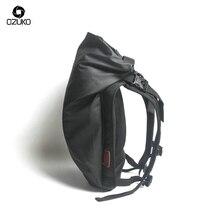 Купить с кэшбэком OZUKO Black Laptop Backpack Large Capacity Waterproof Casual Men Daypack Fashion Unisex Women backpack Travel Bags New Schoolbag