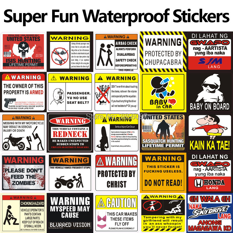 FASP WARNING TO AVOID SERIOUS INJURY DONT TELL ME HOW TO DO MY JOB 3D Car Motorcycle Sticker JDM Decal 8.5*7.5cm