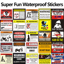 FASP WARNING TO AVOID SERIOUS INJURY DONT TELL ME HOW DO MY JOB 3D Car Motorcycle Sticker JDM Decal 8.5*7.5cm