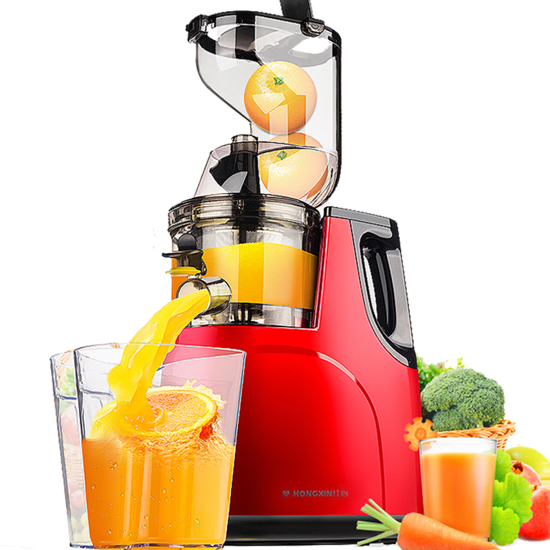 GERMAN Motor Technology New Large Mouth Slow Juicer Fruit Vegetable Citrus Low Speed Juice Extractor