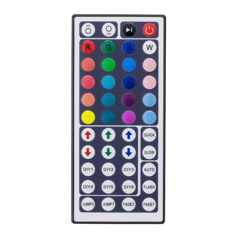 Светодиодный ИК-контроллер с 44 клавишами, светодиодный ИК-контроллер RGB, контроллер освещения, ИК-пульт ДУ, Диммер DC12V 6A для RGB 3528 5050 светодиод...