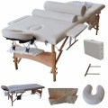 "84""L Massage Table Portable Facial SPA Bed W/Sheet+Cradle Cover+2 Bolster+Hanger HB79184WH"