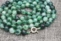 wholesale good 8mm Outstanding Vintage gem stone Graduated Bead Necklace Strand 36