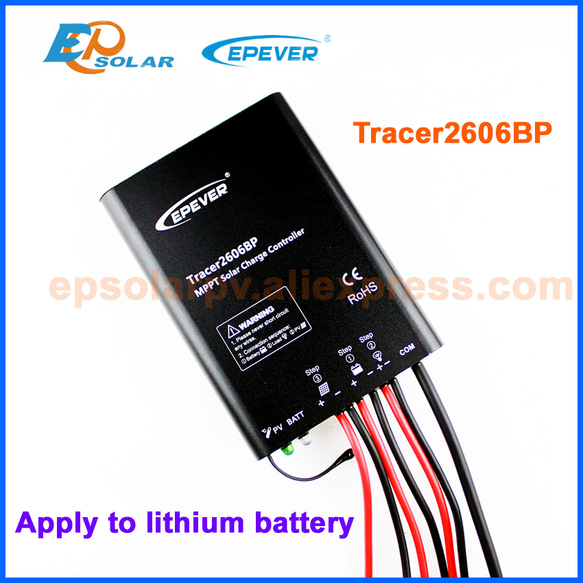 MPPT EPEVER EPsolar Solar Panels 12V 24V Battery Charger controller Tracer2606BP New products 10A 10amps design for lithiumMPPT EPEVER EPsolar Solar Panels 12V 24V Battery Charger controller Tracer2606BP New products 10A 10amps design for lithium