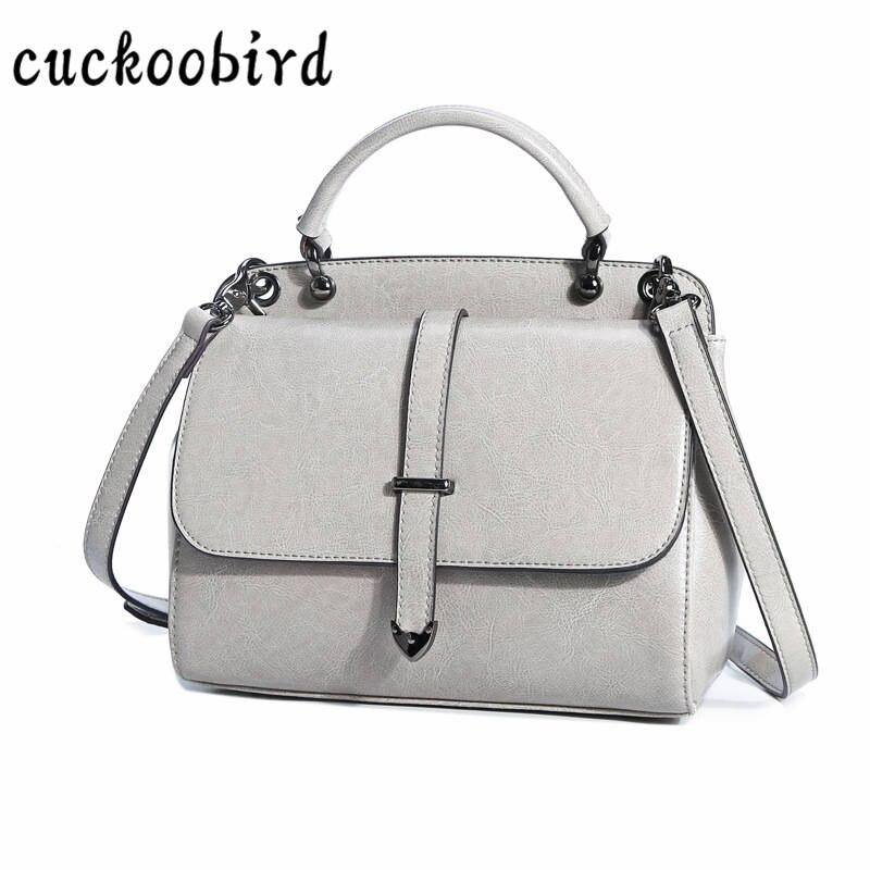 Genuine Leather Women Handbag Vintage Women Messenger Bag Fashion Cover Female Shoulder Bag Flap Stlye Bag for Women