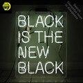 Неоновая вывеска для черного-это новая черная неоновая лампа  вывеска для домашнего дисплея  стеклянная трубка ручной работы  неоновая свет...