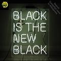 Neon Zeichen für Schwarz Ist die Neue Schwarz Neon Birne zeichen Hause Display Handmade Glas rohr neon licht Zeichen nach neon zubehör|Neonröhren & Röhren|   -