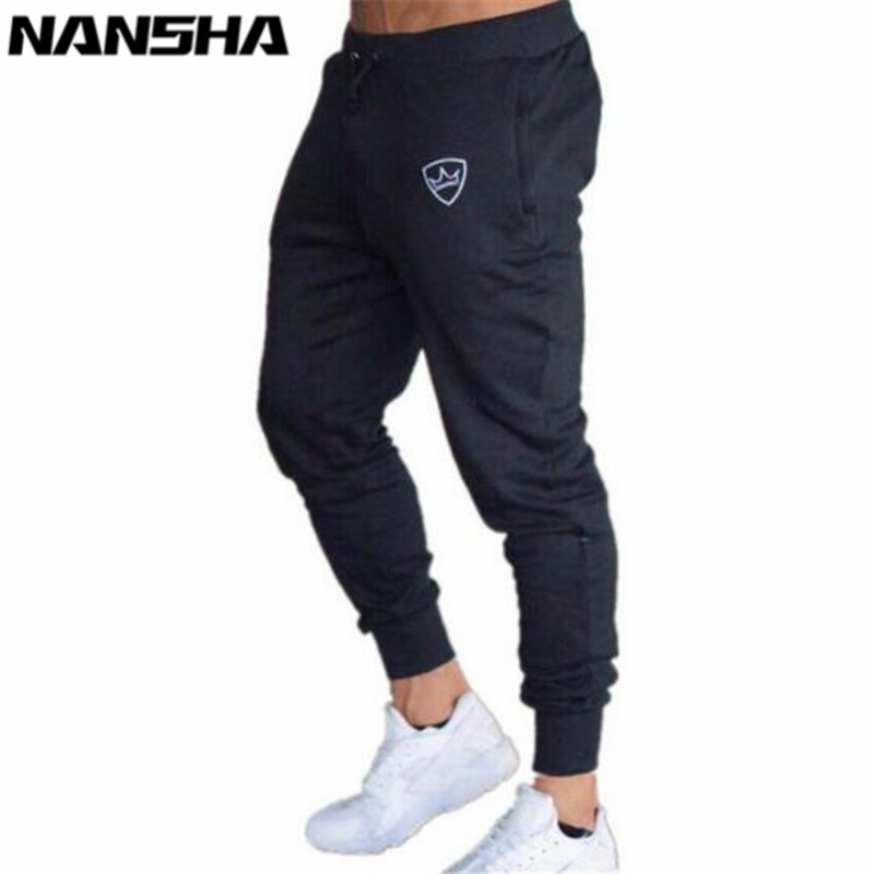 2018 Men Gyms Long Pants Mid Cotton Men's Sporting Workout Fitness Pants Casual Fashion Sweatpants Jogger Pants Skinny Trousers