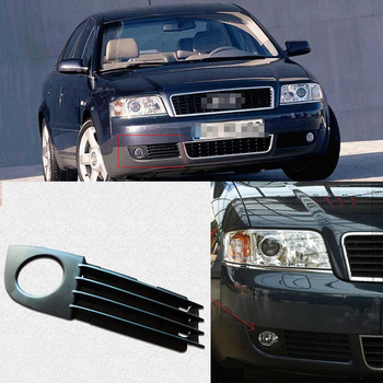 Zwarte Auto Voorbumper Rijden Mistlichten Cover Lamp Frame Trim Voor Audi A6 C5 2003-2005