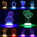 3D Night Light Kids 6W Illusion Desk Table Lamp Acrylic LED Night Light Lamp For Bedroom Warm White/RGB With USB Cable DC5V