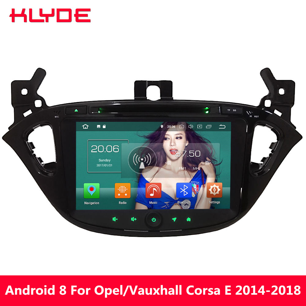 KLYDE Octa Core 4G WIFI Android 8.0 4GB RAM 32GB ROM Car DVD Multimedia Player For <font><b>Opel</b></font>/Vauxhal <font><b>Corsa</b></font> E <font><b>2014</b></font> 2015 2016 2017 2018 image