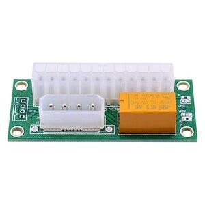 Image 4 - CHIPAL Dual PSU מתאם ATX 24Pin כדי 4Pin SATA כוח סנכרון Starter כרטיס הארכת כבל ADD2PSU Riser עבור Bitcoin כרייה כורה