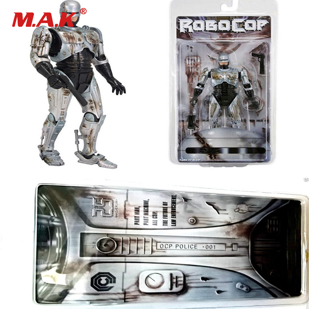 7 Inches Robocop Anime Figure Battle Damage Version Model Toys Gift for Children Kids robocop action figure 7 battle damaged ver murphy model toys best kids gifts collections