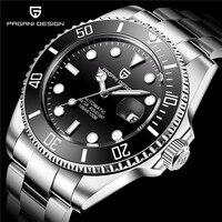 2019 New PAGANI DESIGN Brand Automatic Mechanical Stainless Steel Men Watch Business Military Waterproof Watch Relogio Masculino