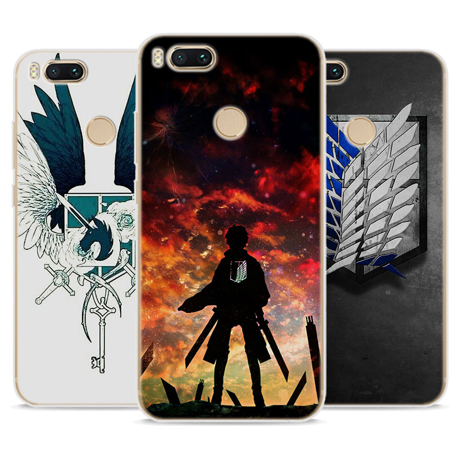 for Redmi 5A case Attack On Titan logo Soft TPU Silicone back Case Cover for Redmi 5 5A 4X Note 5A for Xiaomi Mi 6 5 A1 6X