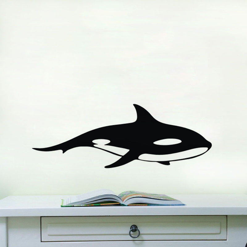 Outline Of Shark Wall Stickers Home Decoration Accessories Wall Art  Stencils For Walls Animals Wall Decals Vinyl Nursery Decor In Wall Stickers  From Home ...