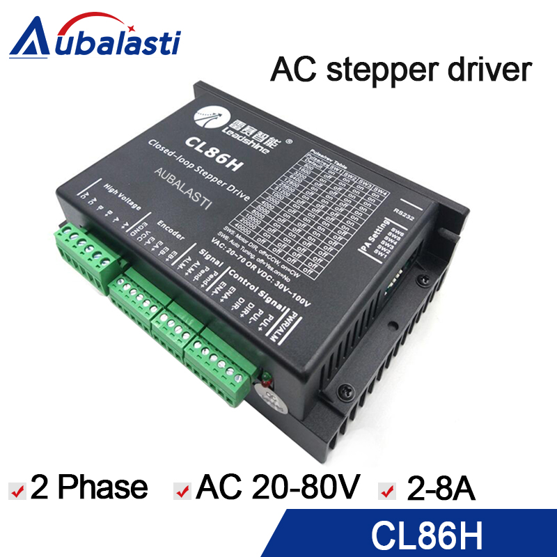 US $83 0 |2phase stepper motor driver leadshine CL86H CL serial close loop  VAC20 80V 2 8A stepper driver use for cnc engraver & cutting-in Motor