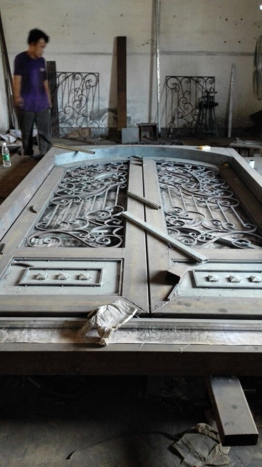 Shanghai China factory wrought Iron doors 72x96 inches hench ard2