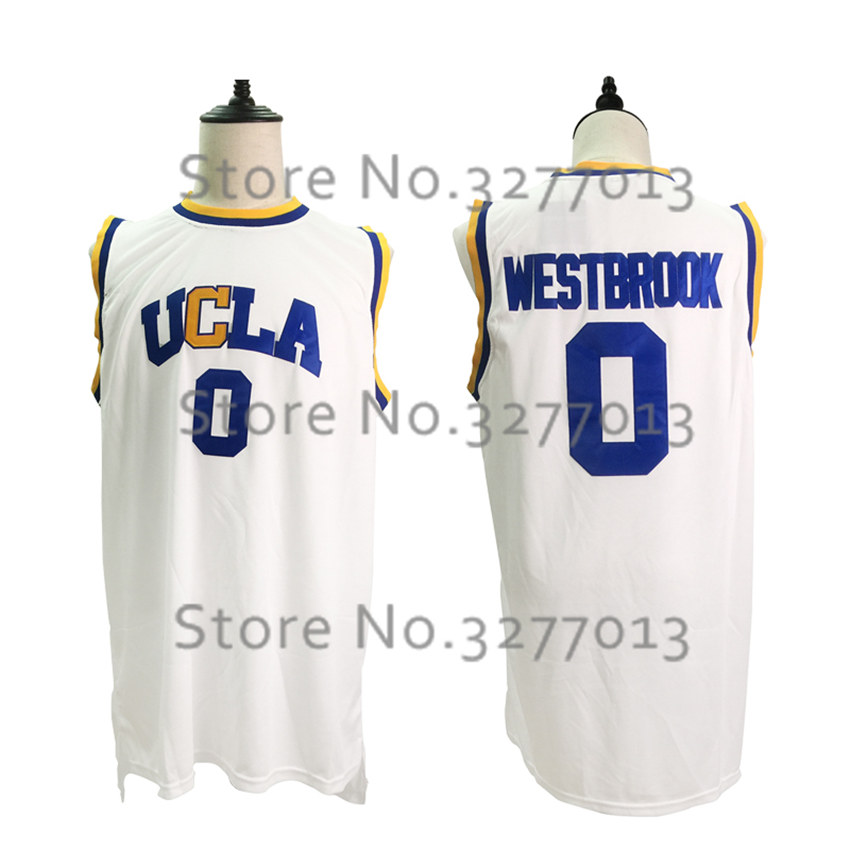 2017 Vintage Shirt #0 Russell Westbrook Movie Stitched Throwback Basketball Jerseys Vintage UCLA Bruins College Basket Jersey ...