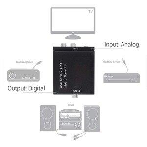 Image 5 - Аналоговый цифровой аудио преобразователь SGEYR ADC аналоговый RCA L/R 3,5 мм на SPDIF коаксиальный аудио преобразователь с входом 3,5 мм