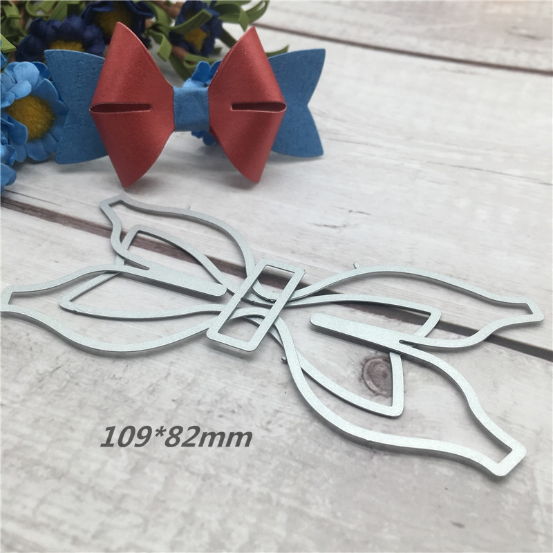 3D bow knot Metal Cutting Dies Stencils for DIY Scrapbooking photo album Decorative Embossing DIY Paper Cards New 109 82mm in Cutting Dies from Home Garden