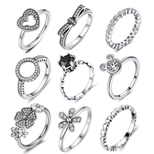 Homod Горячая серебряного цвета 22 стиля стекируемые вечерние кольца для женщин бренд ювелирные изделия, обручальное кольцо подарки