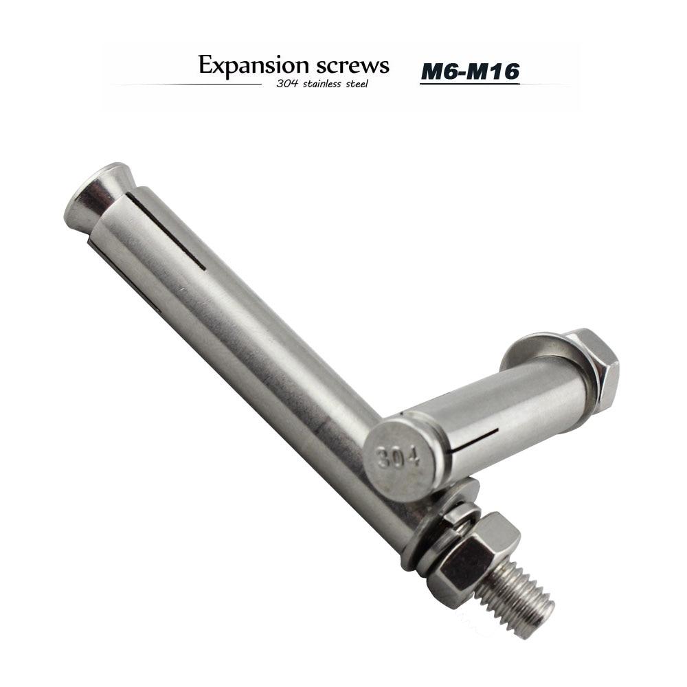 Length : 150mm, Size : M8 304 stainless steel expansion screw expansion bolt car repair gecko car repair expansion bolt m6m8m10m12m16 1Pcs
