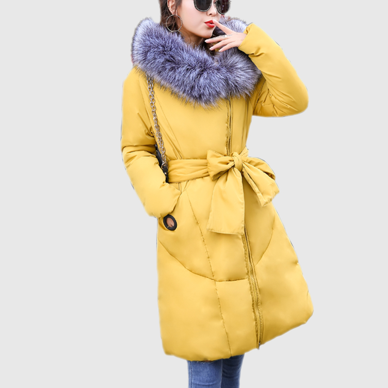 New parkas mujer invierno 2017 winter jacket parka femme Fur Collar Hooded Coat Fashion Brand Cotton Long Style Warm Outwear hot sony srs x11