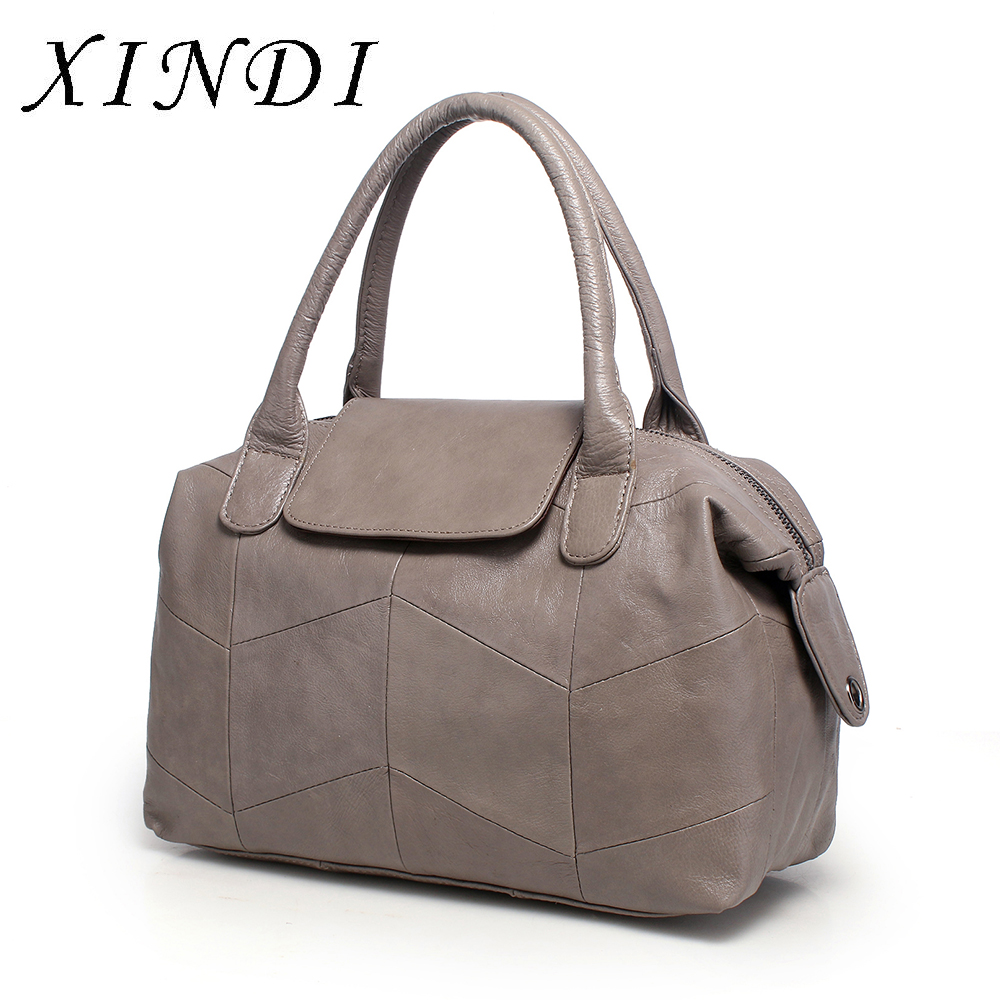 XINDI Nature Cow Genuine Leather Women's Handbags Tote First Layer For Female Messenger Bags Satchel Fringed Shoulder Bags zency genuine leather small women shoulder tassel bags tote handbags first layer cow leather ladies messenger bag satchel