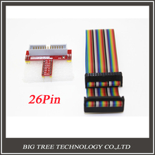 50Set Raspberry PI GPIO Extension Board + 26 Pin Extension Flat Ribbon Cable Wire