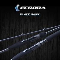 Ecooda Black Hawk 2.1 2.4 2.7m Casting Spinning Lure Fishing Rod Pole Cane Soft Medium Carbon Fiber Fast Action 2 Sections