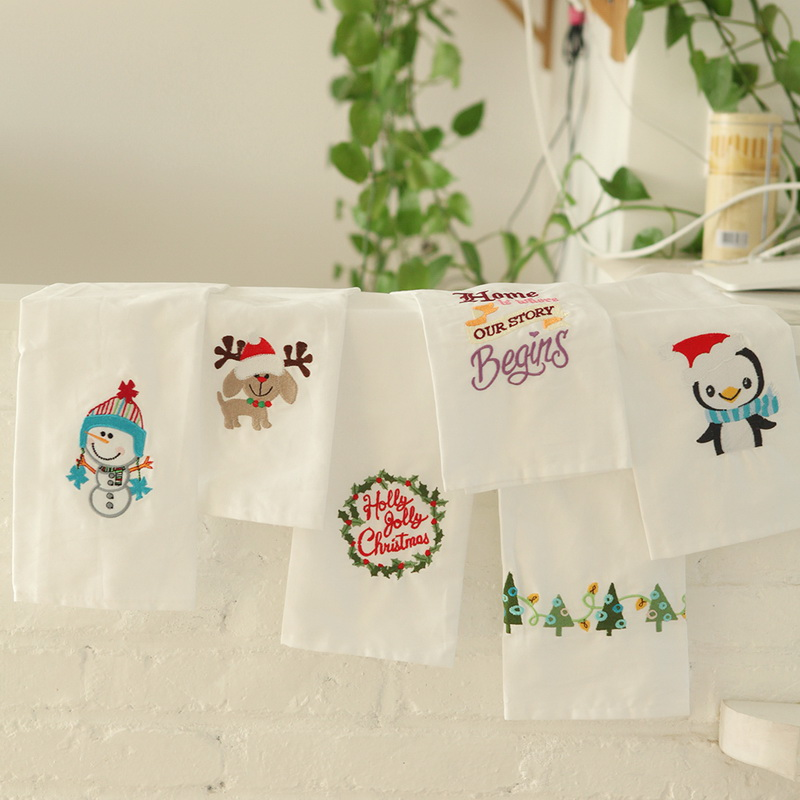 Set Cotton Embroidery Dishtowel Kitchen Towel Dish Towel Cleaning Cloth Tea Towel Seasonal Table Napkin Table Napkins Home & Garden Persevering Junwell 4pcs