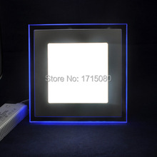 20W Square LED Panel Light double color LED Recessed Ceiling Panel Down Light Lamp with bule + Cool White for indoor lighting