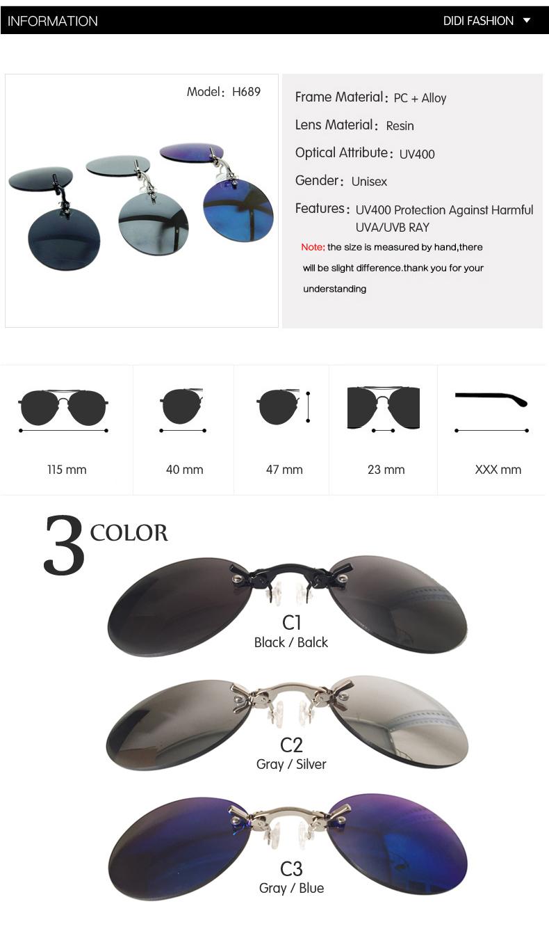 HTB1lVhKfS3PL1JjSZFxq6ABBVXa8 - DIDI Small Round Clip On Nose Mini Sunglasses Men Brand Cool Steampunk Sun Glasses Women Vintage Metal Black Coating Gafas H689