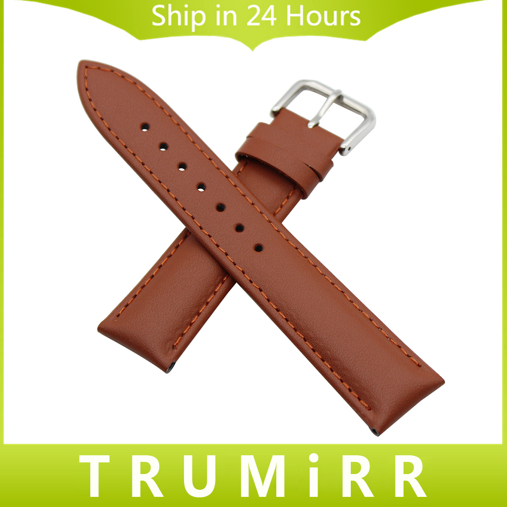 Genuine Leather Watchband 18mm 20mm 22mm 24mm Universal Watch Band Stainless Steel Buckle Strap Wrist Bracelet Black Brown +Tool 22mm 24mm black mens genuine leather watch strap band