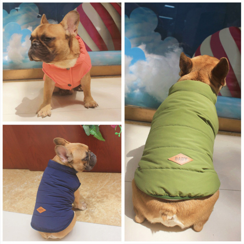 French Bulldog Dog Jacket Winter Clothing for Dogs Warm Pet Clothes Small Puppy Coat Jacket Pug Hoodie 1by25S2 ...