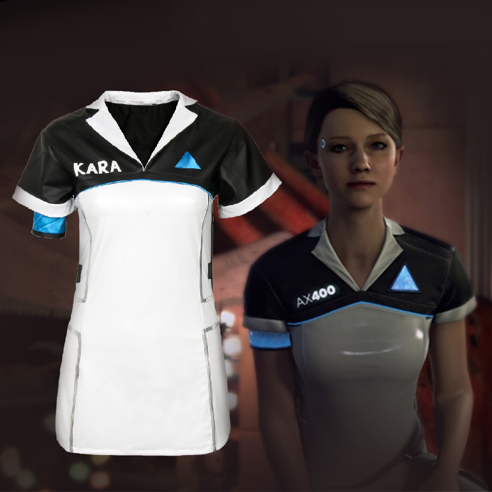 1pcs 2018 New Game Detroit: Become Human KARA Code AX400 Cosplay Costume Dress For Halloween Cosplay Use