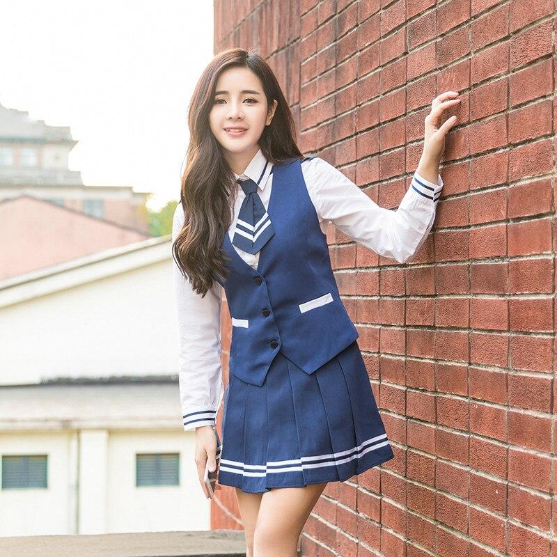 Uniforme scolaire uniformes de collège lycée étudiants de mode costume japonais uniformes scolaires Anime COS marin costume hauts jupe cravate