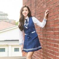 School Uniform College Uniforms High School Fashion Students Suit Japanese School Uniforms Anime COS Sailor Suit Tops Tie Skirt
