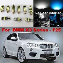 Wljh 20x Canbus чистый белый автомобилей лампа купол Географические карты vanity led освещение в интерьере комплект для BMW X3 серии F25 2011 2012 2013 2014
