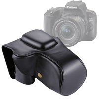 PULUZ For Canon EOS 200D Camera Case Full Body Camera PU Leather Case Bag 18 55mm Lens Protective Cover For Canon EOS 200D bag
