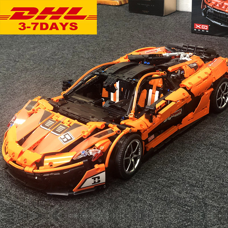 NEW Technic Toys The MOC-16915 Orange Super Racing Car 20087 Set Building Blocks Bricks Kids Toys Car Model Gift(China)