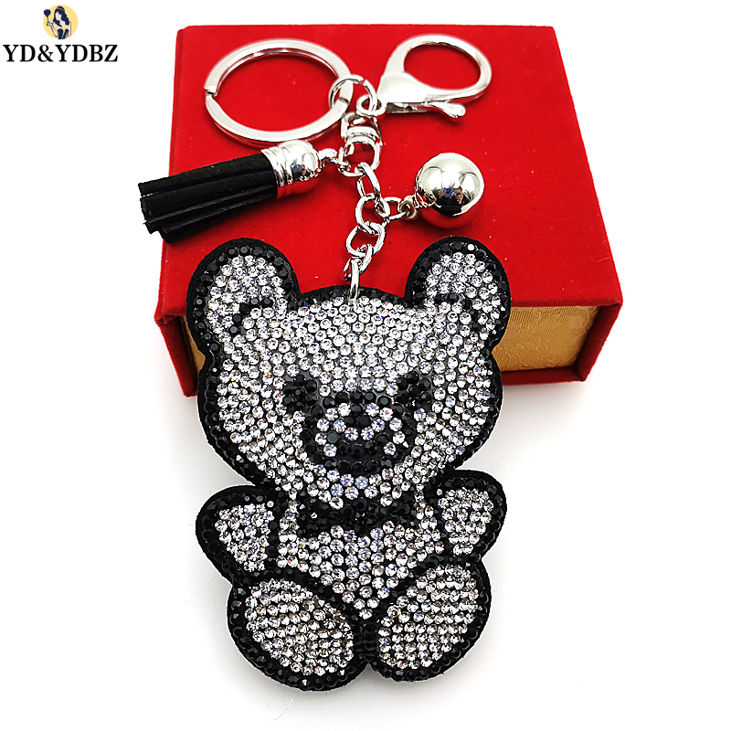 YD&YDBZ New Anime Keychains For Ladies Car Keys Accessories Cute Bear Animal Keychain Girl Gifts Jewellery Bags With Key Chain