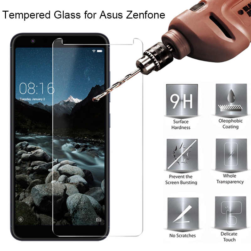 Tempered Glass for Asus Zenfone Max Plus M1 ZB555KL ZB570TL Go ZB452KG Glass on Zenfone Max Pro M1 ZB601KL Live 5 6 3 Ultra Film
